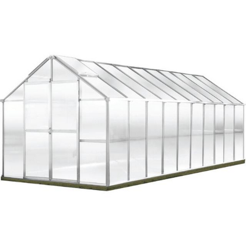 Image of Monticello MONT-20-AL-GROWERS Monticello Growers Edition Greenhouse 8FTx 20FT - Aluminum Finish