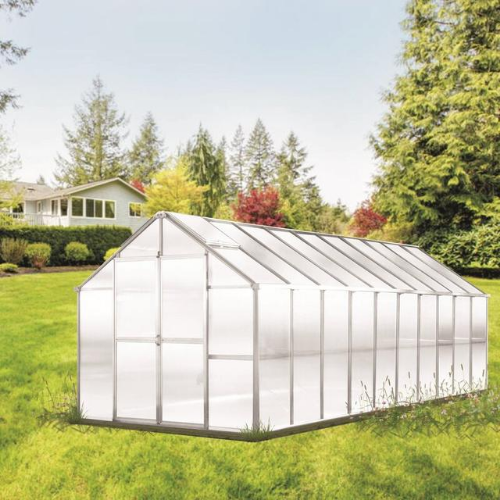 Monticello MONT-20-AL-GROWERS Monticello Growers Edition Greenhouse 8FTx 20FT - Aluminum Finish