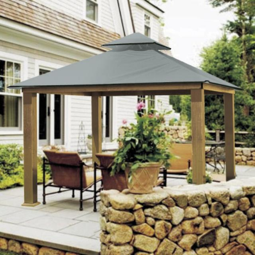 Mist Gray ACACIA AGRC12-SD 12 FT SQ ACACIA Gazebo-Replacement Canopy