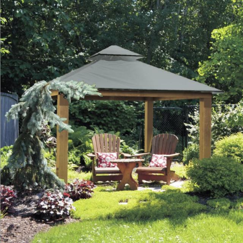 Storm Gray ACACIA AG14-SD 14 FT SQ ACACIA Gazebo