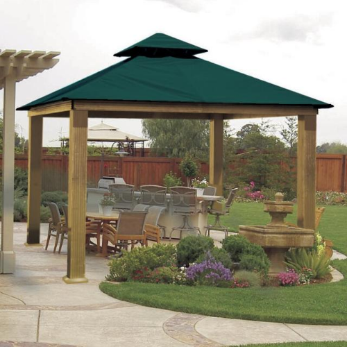 Teal ACACIA AGRC14-SD 14 FT SQ ACACIA Gazebo-Replacement Canopy
