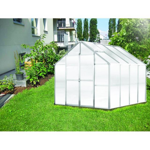 Image of Monticello MONT-8-AL-GROWERS Monticello Growers Edition Greenhouse 8FTx 8FT - Aluminum Finish
