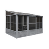 Gazebo Penguin™ Sunroom Patio Enclosure Kit 8 Ft. x 16 Ft Slate Gray with Polycarbonate Roof