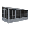 Gazebo Penguin™ Sunroom Patio Enclosure Kit 10 Ft. x 16 Ft Slate Gray with Polycarbonate Roof