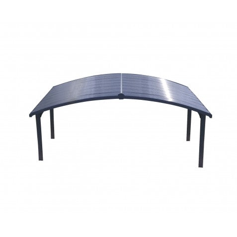 Palram Arizona Double Carport, Palram HG9103 19'W x 16'L x 9'H Arizona Wave Double Arch-Style Carport Kit