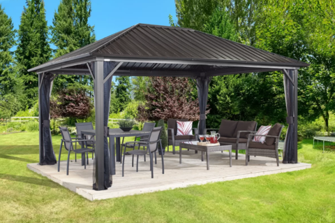 Image of Sojag 500-9165043 GENOVA #53 Gazebo 10'x14' Steel Roof