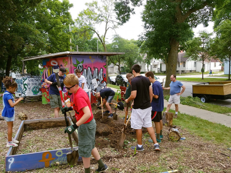 Troop 21 Boy Scouts worked to rejuvenate the Peace Park