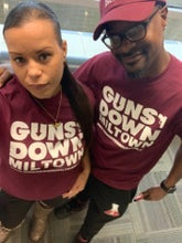 Load image into Gallery viewer, Burgundy Guns Down Miltown T-shirt