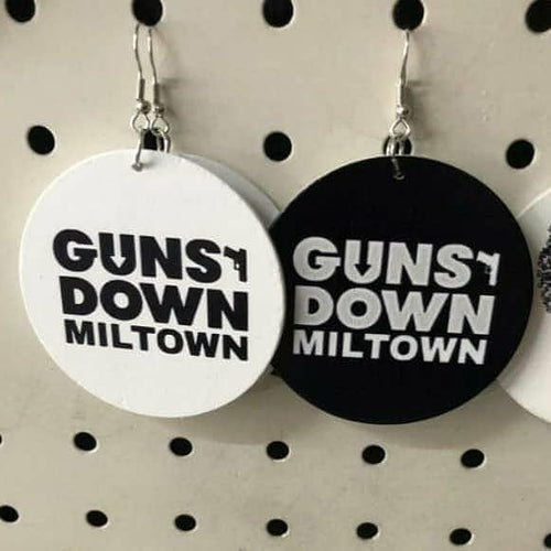 Guns Down Miltown Ear Rings