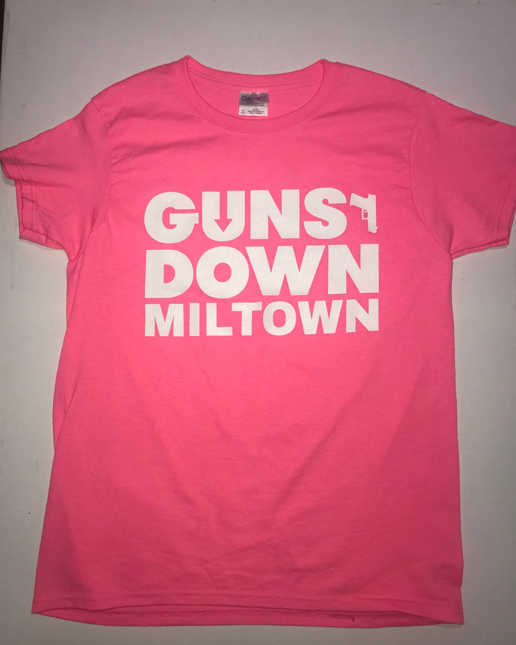 PINK Guns Down Miltown Ladies T Shirt