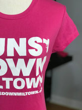 Load image into Gallery viewer, Pink Lady Warrior Guns Down Miltown T Shirt (limited)