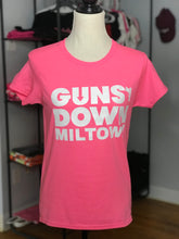 Load image into Gallery viewer, Light Pink Guns Down Miltown Womens T Shirt (limited)