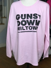 Load image into Gallery viewer, Powder Pink Guns Down Miltown Ladies Long Sleeve (limited)