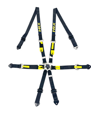 HRX 6 Point Hans Seat Belt Black