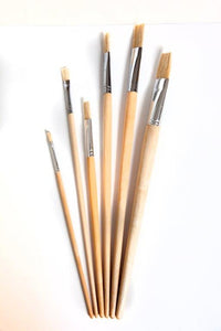 Hogshair paintbrushes