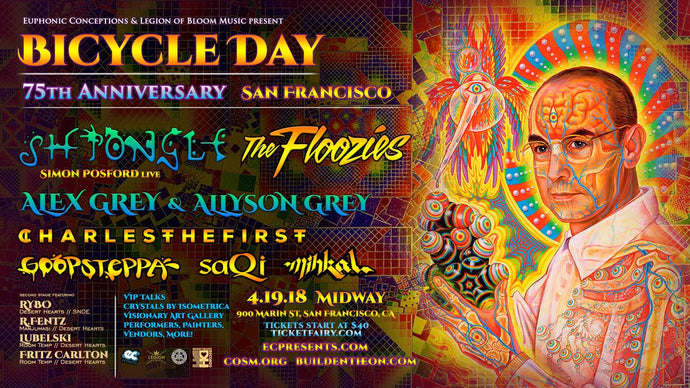 Bicycle Day at the Midway San Francisco Ca April 19th 2018