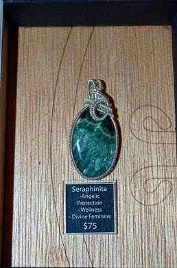 Seraphinite Wire Wrap in Sterling Silver