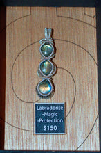Labradorite 2 Wrapped in Sterling Silver