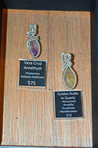 Vera Cruz Amethyst Point Wire Wrap in Sterling Silver