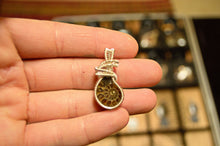 Prehistoric Ammonite Fossil Wire Wrap in Sterling Silver