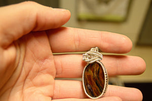 Pietersite Wire Wrap in Sterling Silver