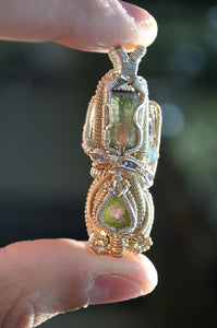 Maziwa - Watermelon Tourmaline Fire Opal and Tanzanite