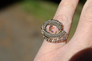 Fire Opal Ring Size 5.5