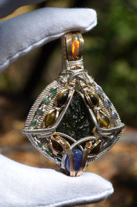 G-Code - 10 grams Moldavite 6 Tiger's Eye 5 Tanzanite 7 Emerald Fire Opal