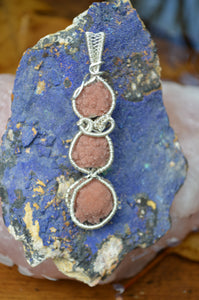 Hematite Amethyst Stalactite x3 Wire Wrap in Sterling Silver