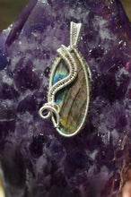 Labradorite Swirl Wire Wrap in Sterling Silver