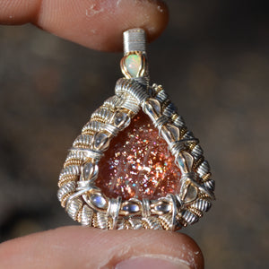 Solis Luna - Sunstone 10 Rainbow Moonstone Fire Opal