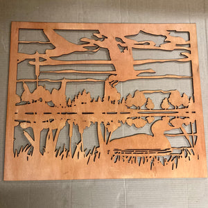 "Ducks and Geese on the Lake 31.5 x 26.5"" in Gunstock"