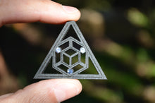 Triangularity 3x Tanzanite Gemlord Space Cruiser Pendant
