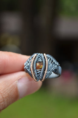 Fire Agate Space Cruiser Ring size 10