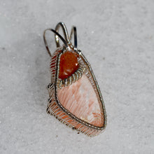Sunstone & Cerasite Wire Wrap in Sterling Silver