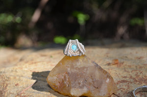 Amazonite Capstone Ring Size 8.5