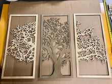 "3 Panel Tree 43 x 31"" Maple Walnut Maple"