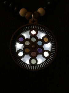 Fruit of Life Gemstone LED RotatoR