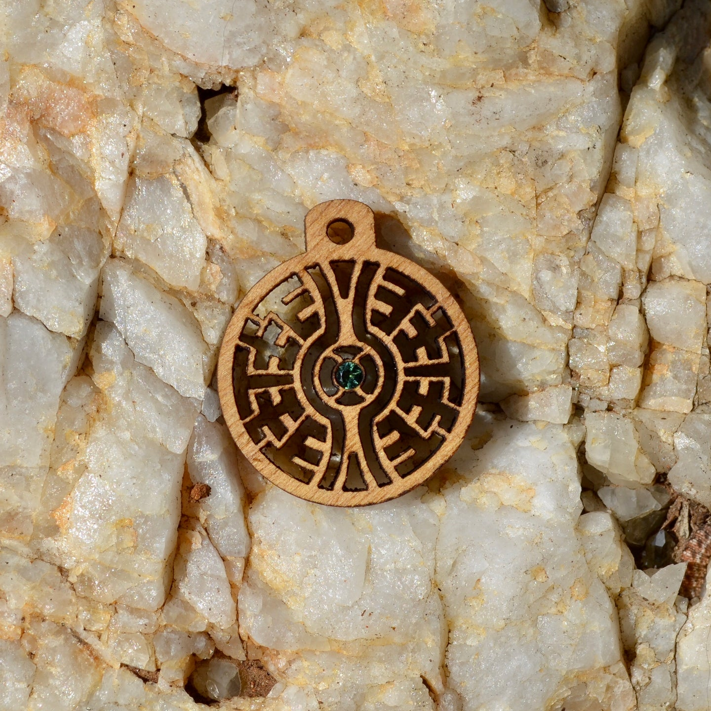 Labyrinth Mini Blue Tourmaline Gemlord Space Cruiser Pendant