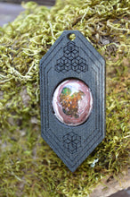 Fire Opal 01 Hexagon Portal Space Cruiser Pendant
