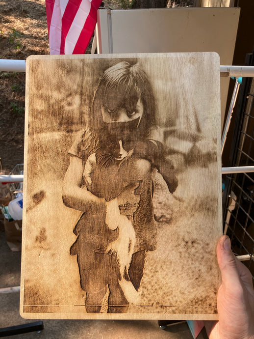 Laser Engraved Photo 12 x 18