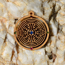 Labyrinth Royal Kyanite Orange Sapphire Tourmaline Gemlord Space Cruiser Pendant