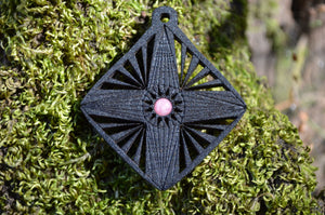 Rhodochrosite Flight of the Navigator Gemlord Space Cruiser Pendant