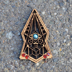 Stealth Gemlord Space Cruiser Pendant
