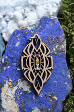 ***Sold Out*** Rasta Garnet Yellow Tourmaline Green Tourmaline Gemlord Space Cruiser Pendant