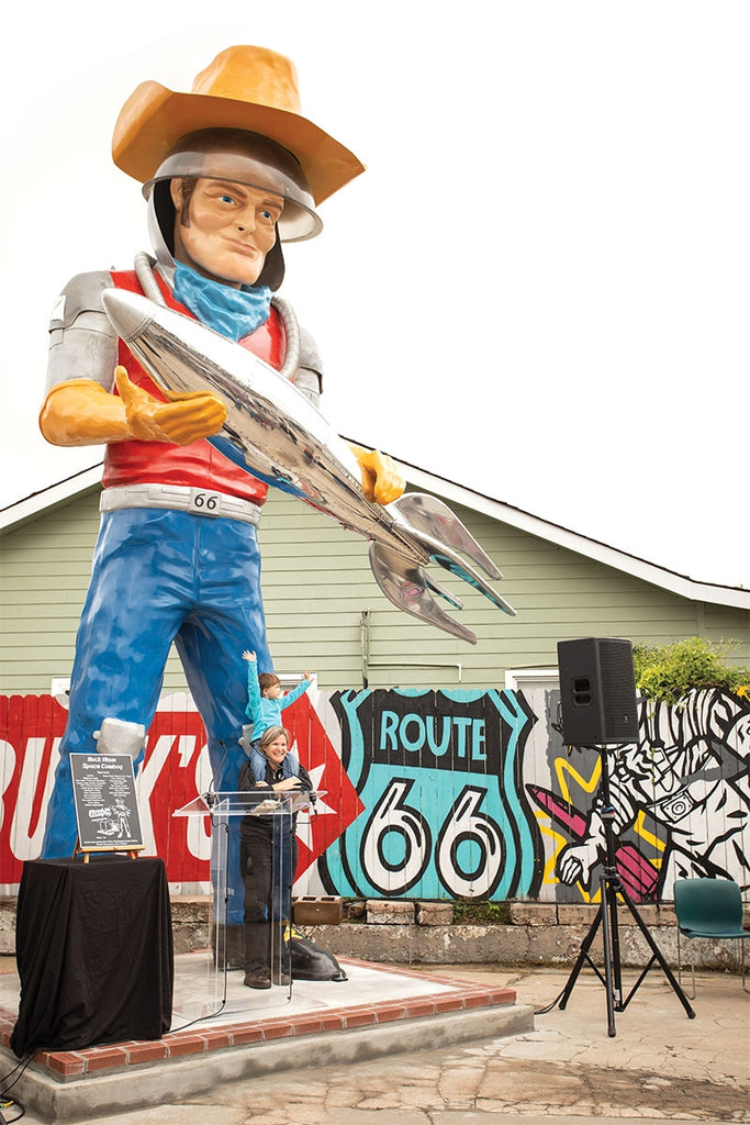 Have you seen Route 66's gigantic new mascot?