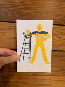 Golden Driller Tulsa Flag Greeting Card