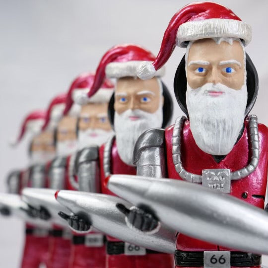 Limited Edition Space Santa Buck Atom Sculptures
