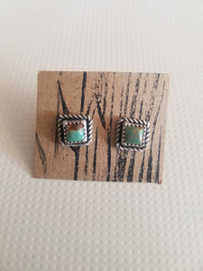 Swaying Grass Silver Royston Square Studs