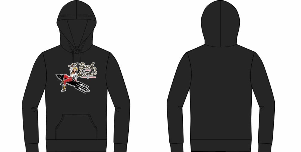 Pin Up Buck Atom Pullover Hoodie